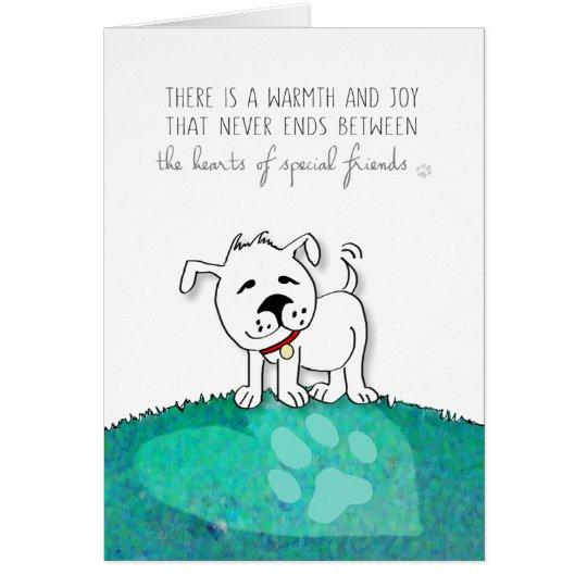 Vet & Business Dog Sympathy Card - Warmth