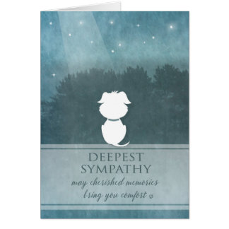 Vet & Business Dog Sympathy - Cherished Memories Card