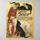 Vet gift Office French Vintage vet advert Poster