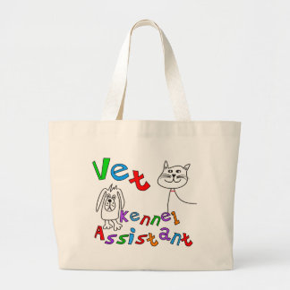 Vet Kennel Assistant T-Shirts and Gifts Large Tote Bag