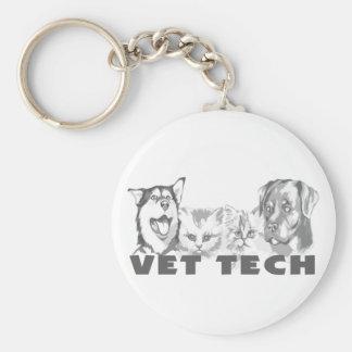 Vet Tech Basic Round Button Key Ring