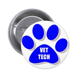 vet tech button blue
