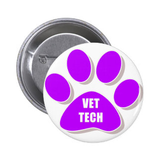 vet tech button purple
