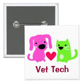 Vet Tech Dog & Cat with Heart Pins
