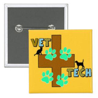 Vet Tech Gift 15 Cm Square Badge