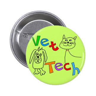 Vet Tech Gifts, Veterinary Technician 6 Cm Round Badge