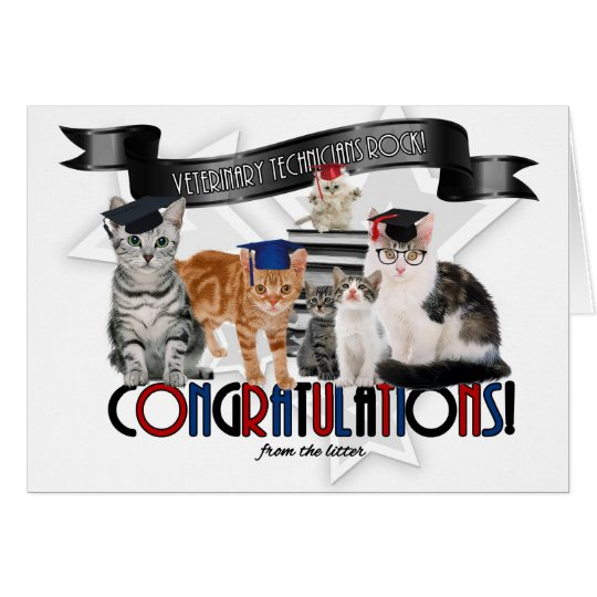 Vet Tech Graduate Congratulations From the Litter Card