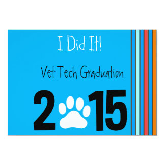 Vet Tech Graduation Invitations 2015