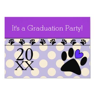 Vet Tech Graduation Invitations Purple
