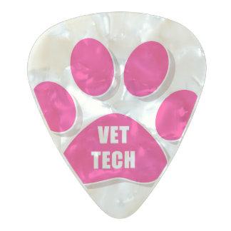 vet tech guitar pick pink pearl celluloid guitar pick