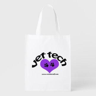 vet tech heart design purple