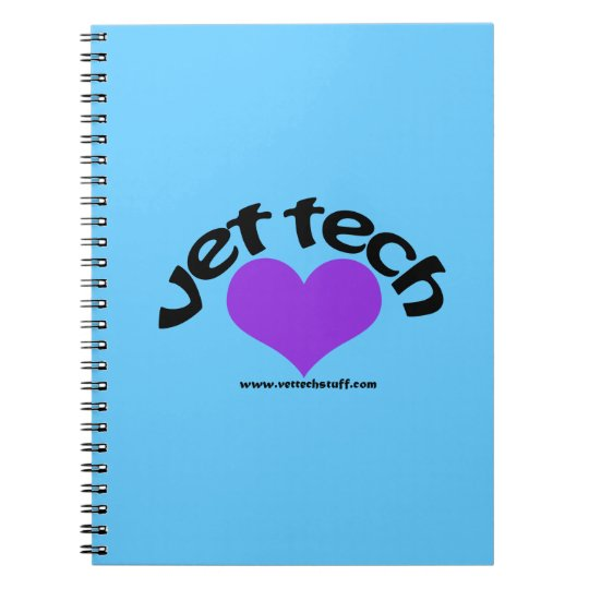 vet tech notebook blue