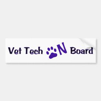 Vet Tech On Board #222 Car Bumper Sticker