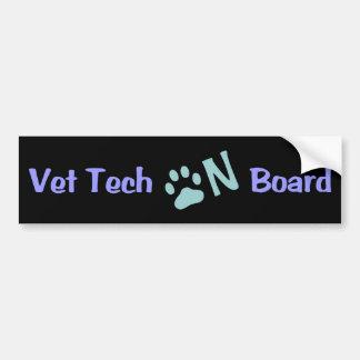 Vet Tech On Board 333 Bumper Sticker