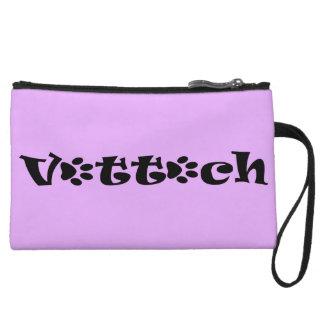 vet tech paw clutch purple wristlet clutch