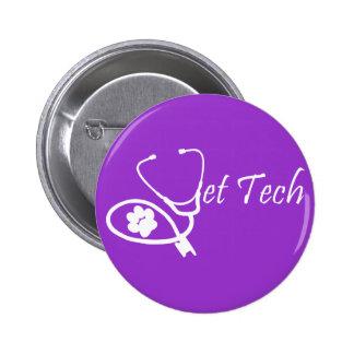 vet tech pin purple