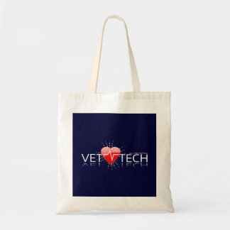 vet tech tote navy budget tote bag