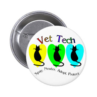 Vet Tech , Unique Gifts for Veterinary Staff 6 Cm Round Badge