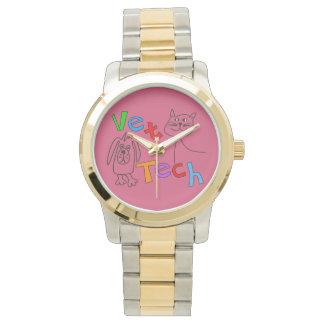 Vet Tech Watch Cat and Dog Design Pink