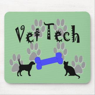 Vet TECH With Dog Bone Mouse Mat