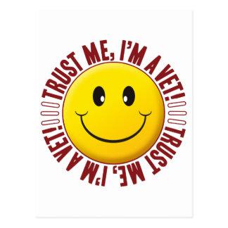 Vet Trust Smiley Postcard