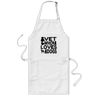 Vet Who Loves Dogs Long Apron