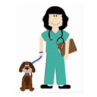 Vet with Dog Postcard
