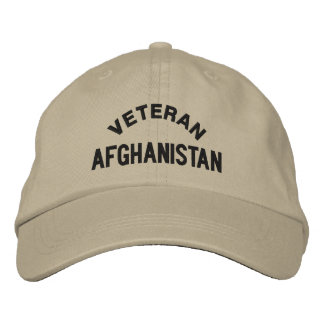 VETERAN, AFGHANISTAN EMBROIDERED HAT