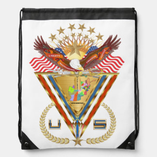 Veteran Afghanistan View about Design Drawstring Bag