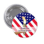 Veteran and Active Duty Military-Small Round 3 Cm Round Badge