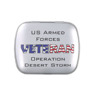 Veteran Armed Forces Jelly Belly Candy Tin