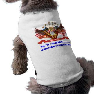 Veteran DAV Best viewed large Please view notes Sleeveless Dog Shirt