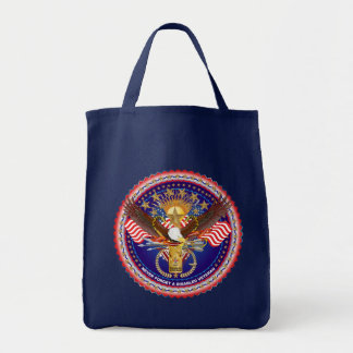 Veteran Disabled View About Design Grocery Tote Bag