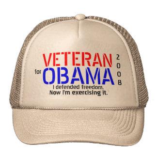 Veteran for Obama - Poltical Cap Trucker Hat