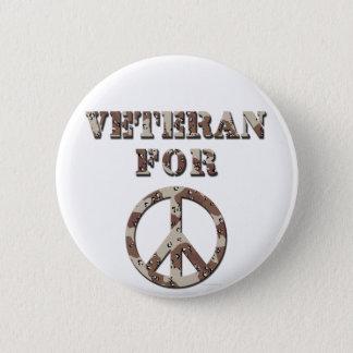 Veteran For Peace 6 Cm Round Badge