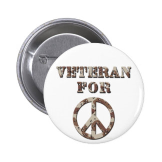 Veteran For Peace 6 Cm Round Badge