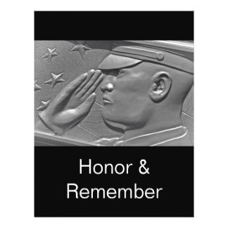 Veteran Hero Honor Salute Flyer Template