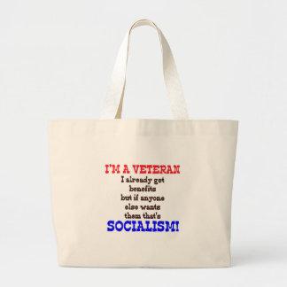 Veteran Hypocrisy Large Tote Bag