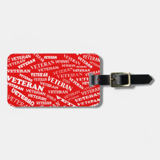 Veteran Luggage Tag in Red