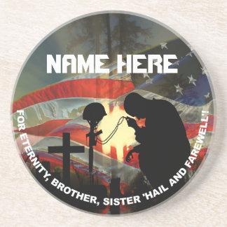 Veteran Memorial Vale of Tears Remembrance Beverage Coasters