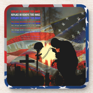 "Veteran Memorial ""Vale of Tears"" Remembrance Drink Coaster"