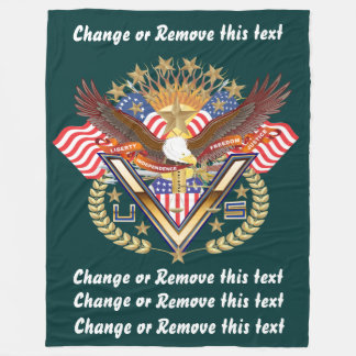 Veteran or Family View About Design Fleece Blanket