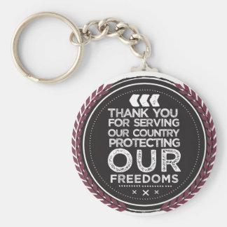 veteran pin key ring
