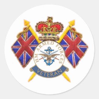 Veteran s Round Sticker