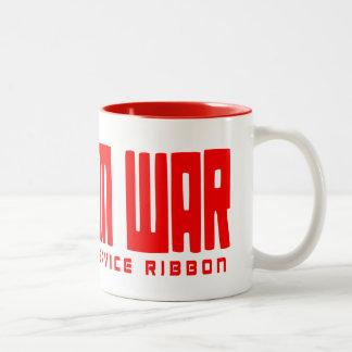 Veteran Service Ribbon Mug's Two-Tone Coffee Mug