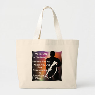 Veteran Someone Who Will Knock You Out Jumbo Tote Bag