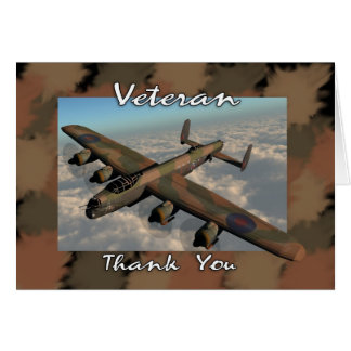 Veteran Thank you Card with Lancaster Bomber