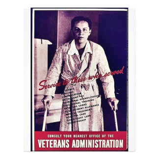 Veterans Administration 21.5 Cm X 28 Cm Flyer