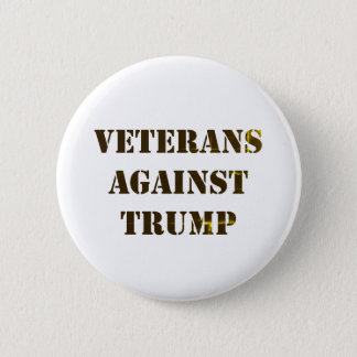 Veterans Against Trump 6 Cm Round Badge