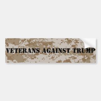 Veterans Against Trump Digi Camo Bumper Sticker